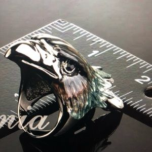 Eagle Ring Austrian Crystal For Men